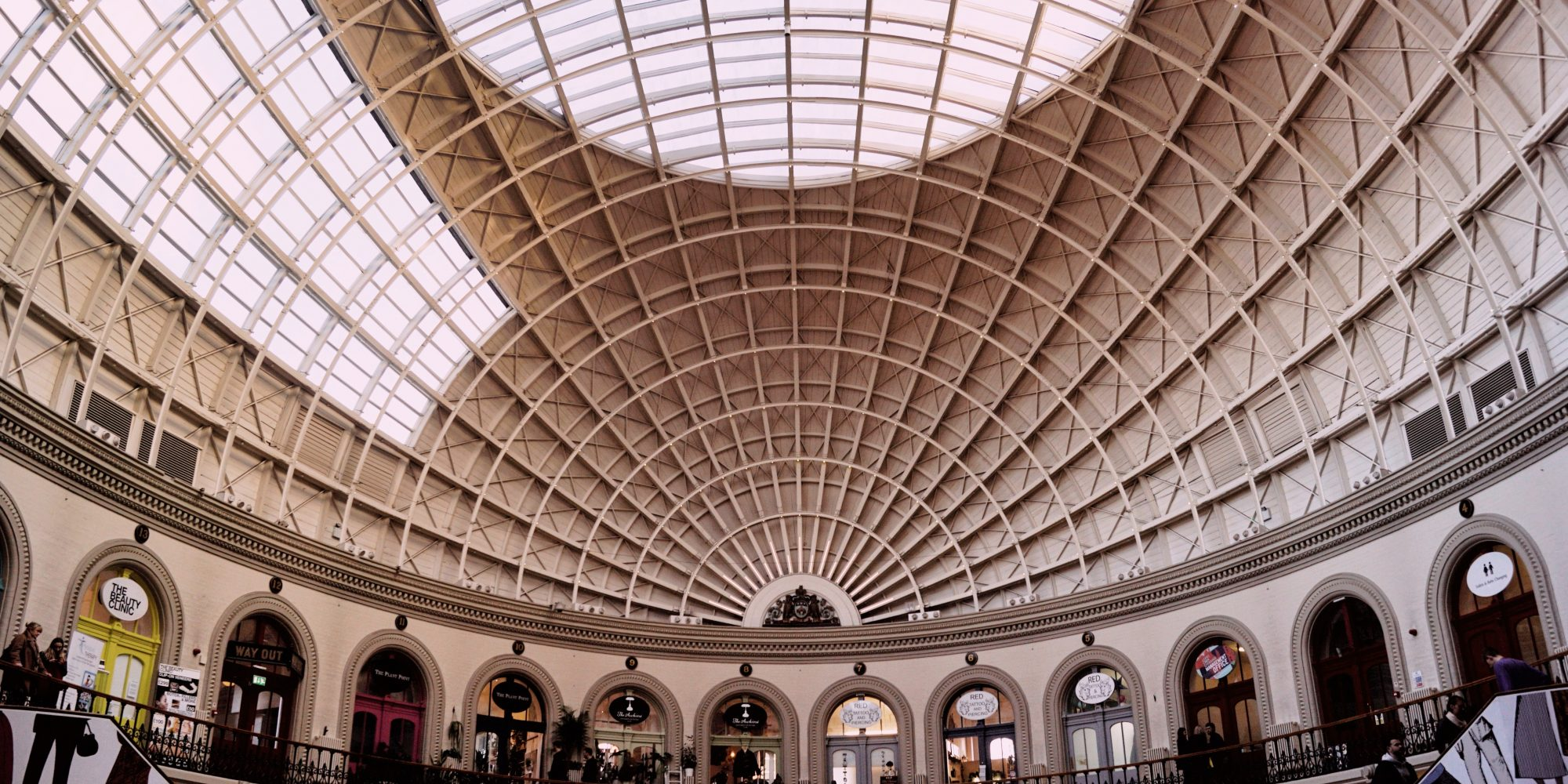 Domed ceiling in a period building with retail