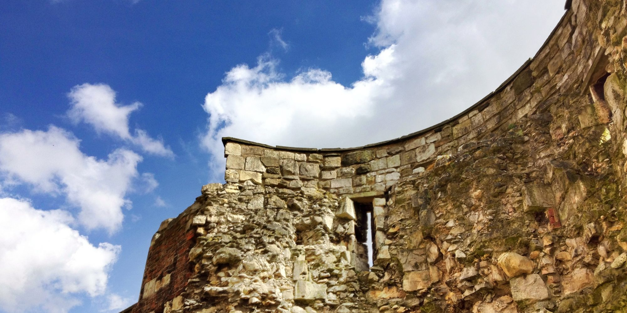Details of historical stone built wall. Developing a new place brand for the City of York.